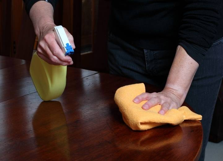 Best way to clean wood furniture with Murphy's oil soap